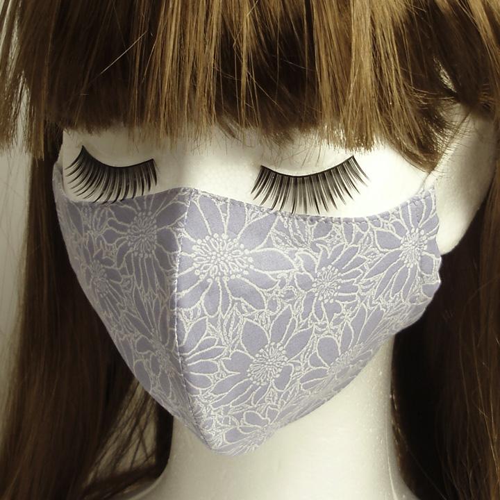 布マスク 青紫